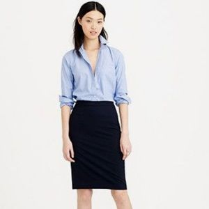 J. Crew Pencil Skirt Superfine Cotton Gaberdine